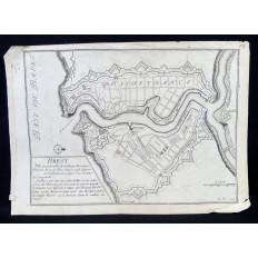CARTE DE LA BAIE DE BREST, 1694 Signée Nicolas DE FER (1646-1720)