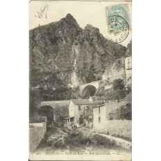 CARTE POSTALE ANCIENNE: MENTON, Vallée du Réal. Pont Saint-Louis. Années 1900