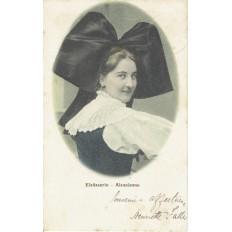 CPA - ALSACE - Costumes Traditionnels Alsacien - Colorisée - Années 1900