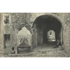 CPA - GORBIO. La rue Garibaldi, vers 1900.