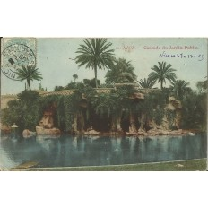 CPA - NICE, CASCADE DU JARDIN PUBLIC (couleurs), vers 1900.