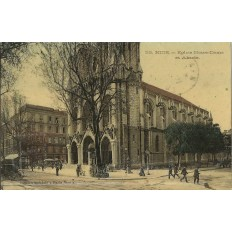 CPA - NICE, EGLISE NOTRE-DAME et ABSIDE, vers 1910.