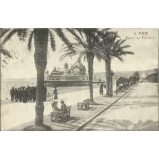 CPA - NICE, ENTRE LES PALMIERS, vers 1910