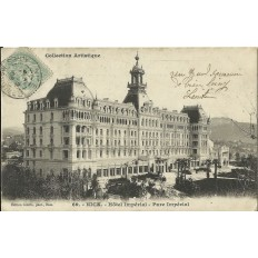 CPA - NICE, HOTEL IMPERIAL. PARC IMPERIAL, vers 1900.