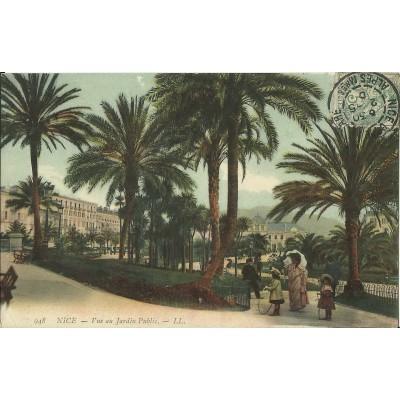 Cpa nice vue au jardin public vers 1900 - Petit jardin public nice ...