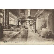 CPA CARTE POSTALE: USINES DU CREUSOT,NOUVELLES ACIERIES DU BREUIL(DPT 71). 1924.