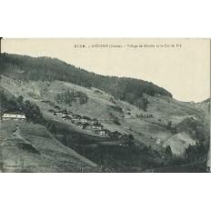 CPA: ARECHES .VILLAGE DE BOUDIN ET LE COL DU PRE. Années 1900.