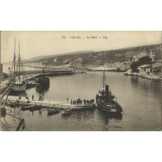 CPA: CASSIS, LE PORT, VERS 1900.