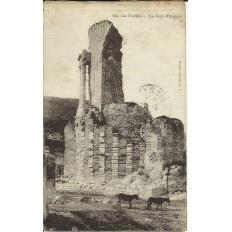 CPA: LA TURBIE: LA TOUR D'AUGUSTE, ANNEES 1910.