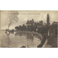 CPA: MENTHON. LE PAVILLON DES FLEURS ET LE DEBARCADERE. Années 1900.