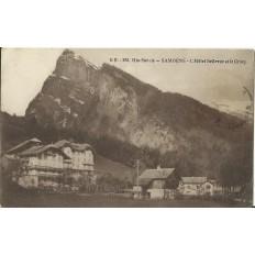 CPA: SAMOENS. HOTEL BELLEVUE ET LE CRIOU. Années 1910.