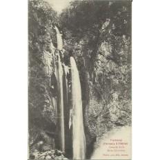 CPA: TRAMWAY D'ANNECY à THONES, CASCADE DE LA BELLE INCONNUE. Années 1900.