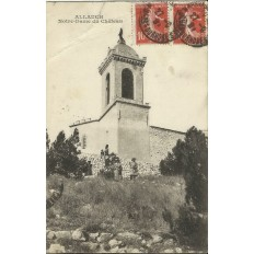CPA: ALLAUCH, NOTRE-DAME DU CHATEAU, ANIMEE,, vers 1900.
