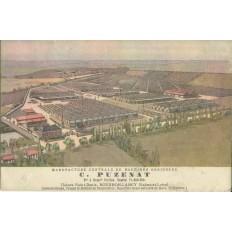 CPA: BOURBON-LANCY (71) , MANUFACTURE CENTRALE DE MACHINES AGRICOLES C.PUZENAT.