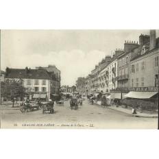 CPA: CHALON-SUR-SAONE (71) , Avenue de la gare.