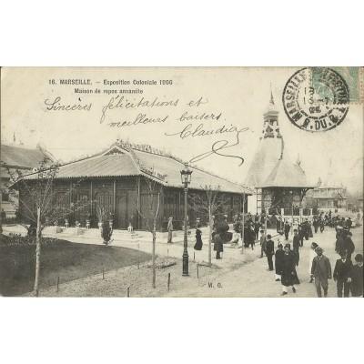 cpa marseille exposition coloniale 1906 la maison de repos annamite l. Black Bedroom Furniture Sets. Home Design Ideas
