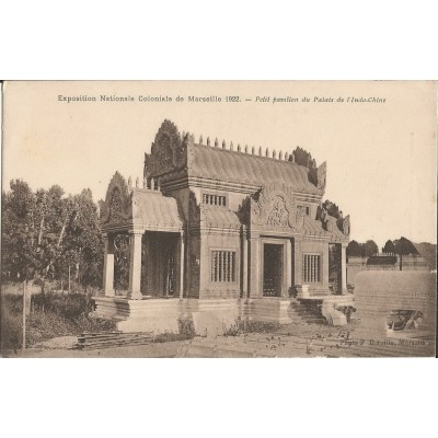 cpa marseille exposition coloniale 1922 petit pavillon indochinois. Black Bedroom Furniture Sets. Home Design Ideas
