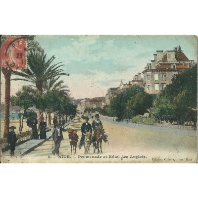 cpa nice promenade et hotel des anglais ann es 1900. Black Bedroom Furniture Sets. Home Design Ideas