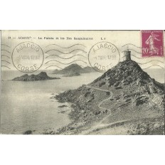 CPA: CORSE, AJACCIO, LA PARATA ET LES ILES SANGUINAIRES, ANNEES 1910.