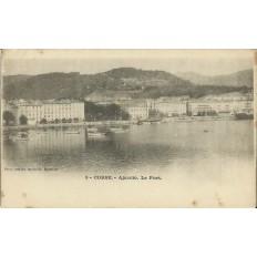 CPA: CORSE, AJACCIO, LE PORT, DANS ANNEES 1910.