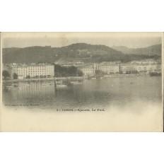 CPA: CORSE, AJACCIO, LE PORT,DANS LES ANNEES 1910.