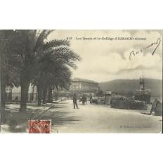 CPA: CORSE, AJACCIO, LES QUAIS ET LE COLLEGE, ANNEES 1910.