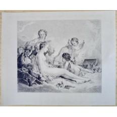 Eugène Michel Jos. ABOT (1836-1894), GRAVURE, d'après François BOUCHER -