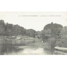 CPA - CHAMPIGNY SUR MARNE - La Marne Vers Le Bâteau Bordier - Années 1910