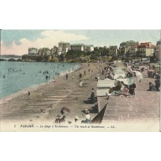 CARTE POSTALE ANCIENNE: PARAME. La Plage à Rochebonne, Années 1900