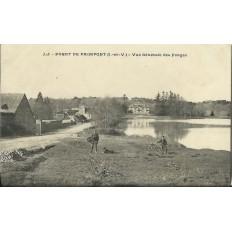 CPA: Foret de PAIMPONT, Vue Générale des FORGES, vers 1900