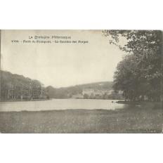 CPA: Foret de PAIMPONT. La Cantine des Forges, Années 1900
