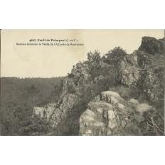 CPA: Foret de PAIMPONT. Rochers dominant la Vallée de l'Aff , Années 1920