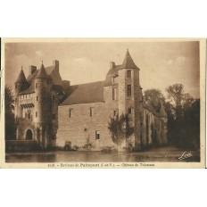 CPA: ENVIRONS DE PAIMPONT. Chateau de Trécesson. Années 1930.