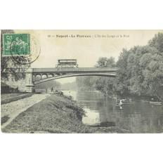 CPA - NOGENT LE PERREUX - L'Ile Des Loups & Le Pont - Années 1910
