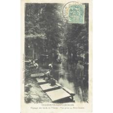CPA - VILLENEUVE ST GEORGES - Bord De L'Yerres - Le Petit Crosne - Années 1900