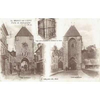 Cpa moret le quai l 39 abreuvoir ann es 1910 - La porte de bourgogne moret sur loing ...