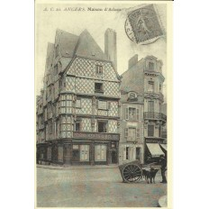 AGRANDISSEMENT CPA 1900: ANGERS, Maison d'Adam