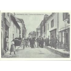 AGRANDISSEMENT CPA 1900: COUERON, Le bas de la Grande Rue