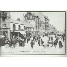 AGRANDISSEMENT CPA 1900: SAINT-NAZAIRE, La rue Amiral-Courbet