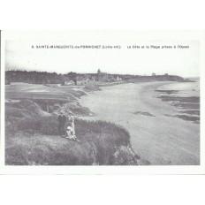 AGRANDISSEMENT CPA 1900: SAINTE-MARGUERITE -de-PORNICHET, La Cote et la Plage