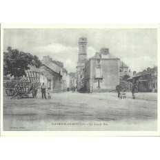 AGRANDISSEMENT CPA 1900: SAINT-ETIENNE-DE-MONTLUC, La Grande Rue