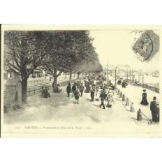 AGRANDISSEMENT CPA 1900: NANTES, PROMENADE DU QUAI DE LA FOSSE