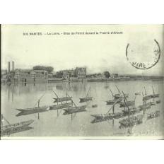 AGRANDISSEMENT CPA 1900: NANTES, Bras de Pirmil, Prairie d'Armont