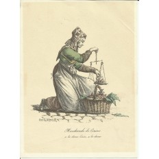 Carle VERNET (1758-1836) LA MARCHANDE DE CERISES, LITHOGRAPHIE.