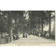 CPA: DINAN, Promenade des Petits Fossés, vers 1910