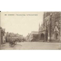 CPA: LOCRONAN, Très curieux Bourg, vers 1900