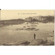 CPA: LESCONIL, La Plage de l'HOTEL DES DUNES, vers 1920