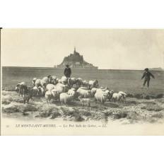 CPA: LE MONT-SAINT-MICHEL, Les Prés Salés des Grèves, vers 1900