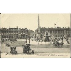 CPA: PARIS , La Place de la Concorde, Animée, Années 1910
