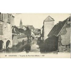 CPA: CHARTRES, Vue prise du Pont Saint-Hilaire, vers 1930